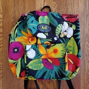 Vintage tropical Hawaii Backpack Purse
